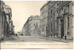 D78 - VERSAILLES - RUE GAMBETTA - BIBLIOTHEQUE - ECOLE MILITAIRE DU GENIE ET D'ARTILLERIE - HÔPITAL MILITAIRE - Versailles