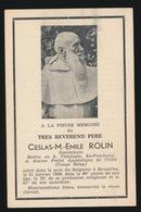 EERW.VADER  CESLAS M.EMILE ROLIN  BRUXELLES  1949  90 JAAR OUD - Obituary Notices