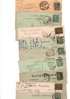 TIMBRE TYPE SEMEUSE LIGNEE...15c.VERT.......VOIR DETAIL...LOT DE 48 SUR CPA.....VOIR SCAN......LOT 2 - 1903-60 Semeuse Lignée