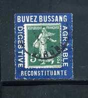 Semeuse N° 137 Sur Porte Timbre BUSSANG Case10 N° 1073 Yvert (livret De L'expert 2010) - 1900-29 Blanc