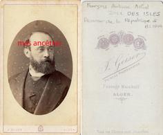 A Voir ALGER-vers 1872-CDV  François ZILL DES ISLES EpouxHélène DULIOUST, Procureur De La République Blida-photo Geiser - Antiche (ante 1900)