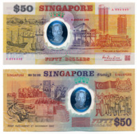 SINGAPORE // 50 Dollars // POLYMER // UNC - Singapour