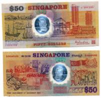 SINGAPORE // 50 Dollars // POLYMER // VF/TTB - Singapour