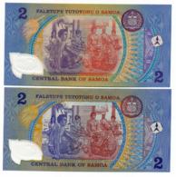 SAMOA // CENTRAL BANK // 2 X 2 TALA // POLYMER // UNC - Samoa