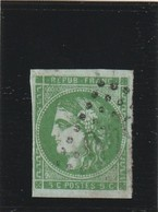 France 42 B Vert Foné Signé Jean Francois Brun - 1870 Uitgave Van Bordeaux