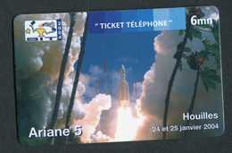 Belle Télécarte Neuve - Fusée Ariane 5 - Houilles Salon SIT 2004 - Phone Card - Espace