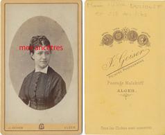 A Voir ALGER-vers 1872-CDV  Hélène DULIOUST ép De François ZILL DES ISLES ,procureur De La République Blida-photo Geiser - Antiche (ante 1900)