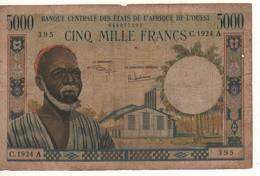 WEST AFRICA STATES   5'000  Francs  (Côte D'Ivoire / Ivory Coast)  P104Ah - Elfenbeinküste (Côte D'Ivoire)