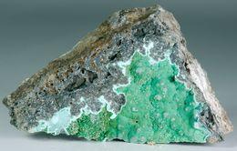 Mineral - Barite Su Malachite (Zorzone, Bergamo, Italia) - Lot. 213 - Minéraux