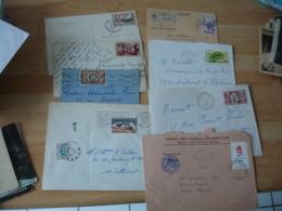 Lot De 89 Lettre Timbre Seul Sur Lettre Toutes Differentes Tout En Photo - 1921-1960: Modern Tijdperk