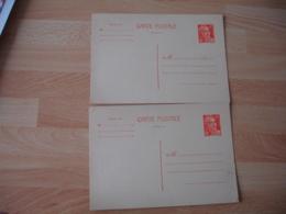 Lot De 2 Entier Postal Entiers Postaux 12 F Orange Marianne Gandon - Standaardpostkaarten En TSC (Voor 1995)