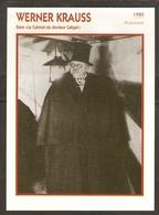 PORTRAIT DE STAR 1920 ALLEMAGNE - ACTEUR WERNER KRAUSS - GERMANY ACTOR CINEMA FILM PHOTO - Fotos