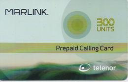 NORWAY MARLINK/TELENOR SATELLITE PREPAID PHONE CARD 300 UNITS-EXP DATE 31/12/04-USED(bx1) - Norvegia