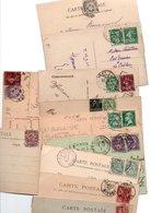 TIMBRE TYPE BLANC...MOUCHON......VOIR DETAIL.........LOT DE 48 SUR CPA.....VOIR SCAN......LOT 11 - 1900-29 Blanc