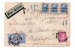 Lettre Taxée Pour Madagascar - 1921-1960: Periodo Moderno