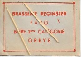 OREYE. BRASSERIE REGINSTER. FARO BIERE 2ème CATEGORIE - Oreye