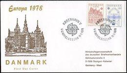 Danemark - Dänemark - Denmark FDC1 1978 Y&T N°663 à 664 - Michel N°662 à 663 - EUROPA - FDC