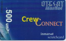 GREECE OTESAT SATELLITE PREPAID PHONE CARD 500 UNITS-USED(bx1) - Grecia