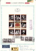 Oostenrijk 1969 Mi Nr  1294 - 1301, Kleinbogen,  Fdc, 100 Jaar Weense Staatsopera, Mozart, Beethoven, Strauss, Verdi, - 1945-.... 2a Repubblica