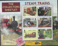 ISLE OF MAN, 2019, MNH, TRAINS, STEAM TRAINS, SPECIAL COLLECTORS SHEET - Trains