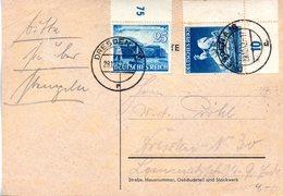 "(L) DR Bedarfs-Postkarte MiF Mi 767,771 ""Leipziger Frühjahrsmesse 1941+Wiener Frühjahrsmesse"" TSt 29.12.1942 DRESDEN - Briefe U. Dokumente"