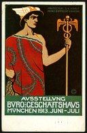 BAYERN 1913, GANZSACHE: AUSSTELLUNG BÜRO-GESCHÄFTSHAUS, STPL MÜNCHEN, SELTEN! - Bayern