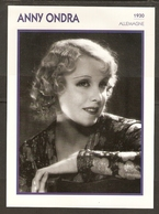 PORTRAIT DE STAR 1930 ALLEMAGNE - ACTRICE ANNY ONDRA - GERMANY ACTRESS CINEMA FILM PHOTO - Fotos