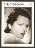 PORTRAIT DE STAR 1930 ALLEMAGNE - ACTRICE OLGA TSCHECHOWA - GERMANY ACTRESS CINEMA FILM PHOTO - Fotos