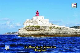 Set 6 Cartes Postales, Phares, Lighthouses Of Europe, France, Bonifacio, Le Phare De La Madonetta - Leuchttürme