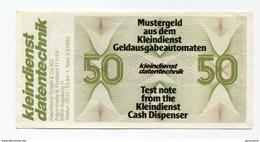Billet De Banque D'essai De 50 Marks Pour Distributeurs DAB - Test Note From Cash Dispenser - Mustergeld - [17] Falsi & Campioni