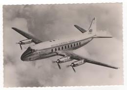 Aviation - Dans Le Ciel De France. Viscount V 700 De La B.E.A. N°62. Carte Postale Noir Et Blanc. Editions P. I., Paris - France