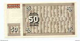 """Billet D'essai De 50 Mark Pour DAB """"Nixdorf Computer"""" - Test Bank Note Specimen - [17] Falsi & Campioni"""