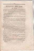 Bulletin Des Lois 1132 De 1844 Droit De Tonnage Applicables En France Aux Navires Danois - Relative Aux Douanes - Décrets & Lois