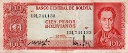BOLIVIA 100 PESOS BOLIVIANOS 1962  P-163  XF - Bolivia