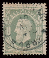 """COB N°30 - Obl. """"CONCOURS"""" - DR - CELLES-LEZ-DINANT - 1869-1883 Leopold II"""