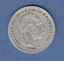 Österreich / Ungarn Franz Joseph Kursmünze 20 KRAJCZAR 1870 G.Y.F.  - Autriche