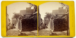 MONT SAINT MICHEL - RUE DE LA VILLE - FRANCE - Stereoscopic