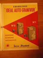Prospectus Chaudière Idéal Auto-granivor IDEAL STANDARD 149 Bd Haussmann Paris - Electricité & Gaz