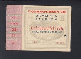 Dt. Reich Eintrittskarte Olympia 1936 Leichtatletik - Eintrittskarten