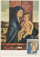 Carte-Maximum ANTIGUA N°Yvert 392 / Bellini / Madonne - Antigua Et Barbuda (1981-...)