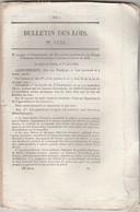 Bulletin Des Lois 1133 De 1844 Brevets Invention - Crue Inondations - Chemin De Fer Amiens Boulogne 17 Pages Avec Tarif - Décrets & Lois