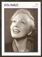 PORTRAIT DE STAR 1935 ALLEMAGNE - ACTRICE DITA PARLO - GERMANY ACTRESS CINEMA FILM PHOTO - Fotos