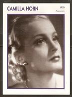 PORTRAIT DE STAR 1935 ALLEMAGNE - ACTRICE CAMILLA HORN - GERMANY ACTRESS CINEMA FILM PHOTO - Fotos