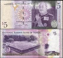 Tonga 5 Pa'anga. ND (2013) Unc. Banknote Cat# P.39b - Tonga