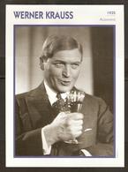 PORTRAIT DE STAR 1935 ALLEMAGNE - ACTEUR WERNER KRAUSS - GERMANY ACTOR CINEMA FILM PHOTO - Fotos