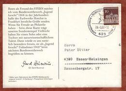 AK Jugend Forscht, Brandenburger Tor Berlin, SoSt Frankfurt, Nach Essen 1968 (90059) - Covers & Documents