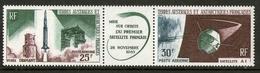 TAAF N° 11 P.a. Triptyque Mise Sur Orbite 1er Satellite Français 1965 - Unused Stamps