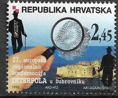 1998 Kroatien Mi. 458 **MNH  27. Europäische Regionalkonferenz Der INTERPOL, Dubrovnik. - Croatia