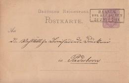 DR Ganzsache R3 Haaren Reg. Bez. Aachen 24.2.81 Gel. Nach Paderborn - Deutschland