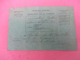 Carte Postale Franchise Militaire/ R F/Ministère De La Guerre/Gauthier/Bulletin De Santé/Niévre/1914-18    TIMB122 - Guerre 1914-18